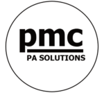 PMC PA logo wit
